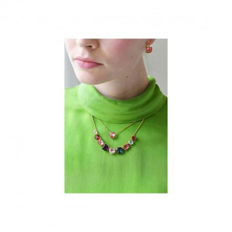 """Серьги """"La Diamantine"""". 2 камня, гвоздик, зелёные"""